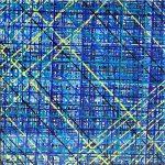 Blue Subway ~ 100.100 cm